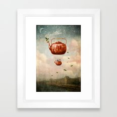 Tea for Two at Dusk Framed Art Print
