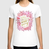 fitzgerald T-shirts featuring Zelda Fitzgerald – Pink on White by Cat Coquillette