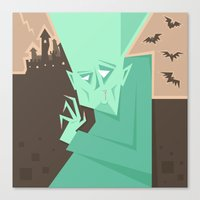 vampire Canvas Prints featuring Vampire by 5wingerone