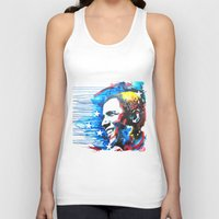 obama Tank Tops featuring Obama White by Phil Fung