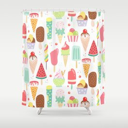 Ice Dream Shower Curtain