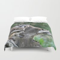 racoon Duvet Covers featuring Racoon 001 by jamfoto