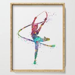 Rhythmic Gymnastics Print Sports Print Watercolor Print Serving Tray