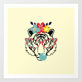 Hello Tiger Art Print