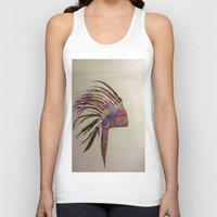 native Tank Tops featuring Native  by Emily Bingham