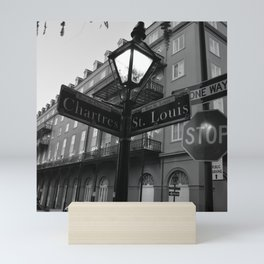 French Quarter, New Orleans streets Mini Art Print