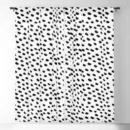 Brush Dot Pattern White Blackout Curtain