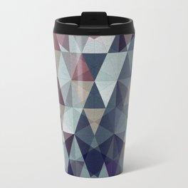 geometric pattern winter pink rose violet Travel Mug