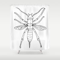 insect Shower Curtains featuring Insect by Martin Stolpe Margenberg