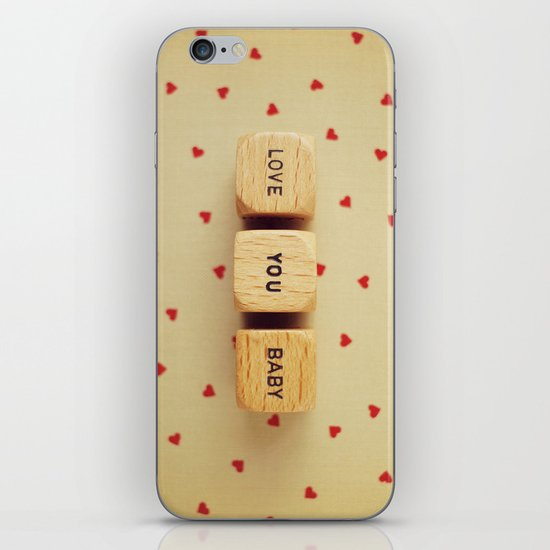 Love You Baby iPhone & iPod Skin