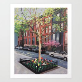 Spring time on 22nd Street Art Print