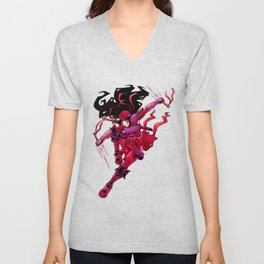 Flashes of Red Unisex V-Neck