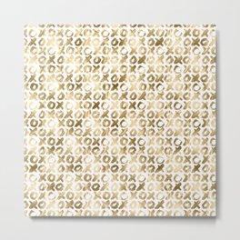 XOXO Love Me Gold Pattern 2 Metal Print