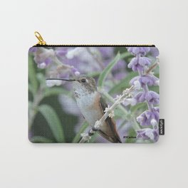 Ms. Hummingbird's Break Time in Mexican Sage Carry-All Pouch