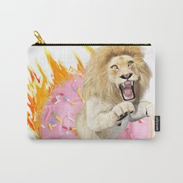 Fire Donut Lion Carry-All Pouch