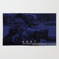 movie poster Area & Throw Rugs featuring Movie Poster - Heat (Pacino) by Mark A. Hyland (MAHPhoto)