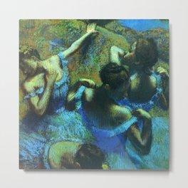 Blue Dancers by Edgar Degas Metal Print