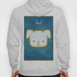Woof - Dog Graphic - Chalkboard Inspired Hoody
