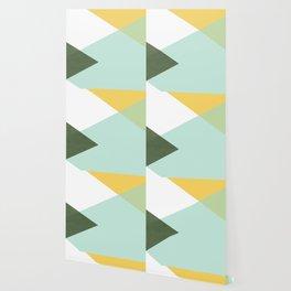 Geometrics - citrus & concrete Wallpaper