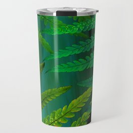Forest Fern Green Travel Mug