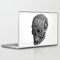 terminator Laptop & iPad Skins featuring Ornate Terminator by Adrian Dominguez