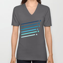 Blue Streaking Dice Unisex V-Neck