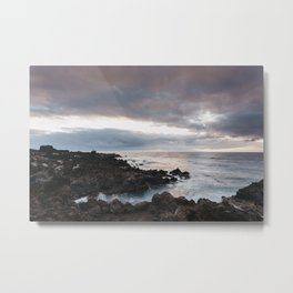 Volcanic coastline at sunrise. La Palma, Canary Islands. Metal Print
