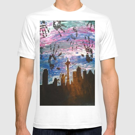 Abstract Seattle Skyline T-shirt