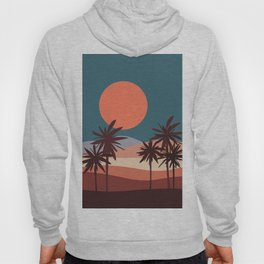 Abstract Landscape 13 Portrait Hoody