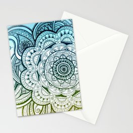Mandala Blue Yellow Stationery Cards