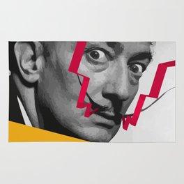 Graphic design portrait of Dali Rug
