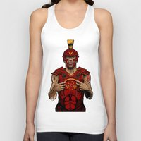 gladiator Tank Tops featuring German Gladiator Podolski by Akyanyme