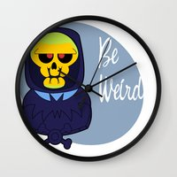 skeletor Wall Clocks featuring Skeletor-MOTU- by Smurf74