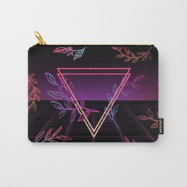 Synthwave Leaves Aesthetic Carry-All Pouch