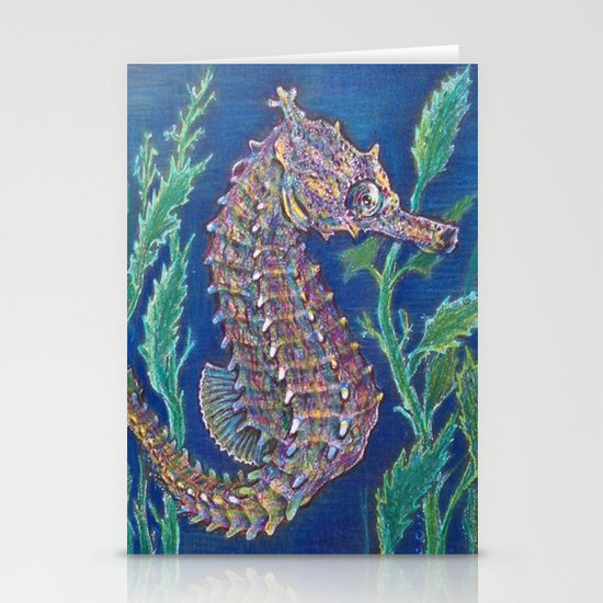 Original Sea Horse By Catherine Coyle, ccoylecreations   Stationery Cards