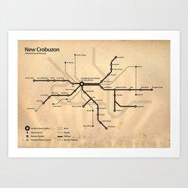 Perdido Street Station Map Art Print