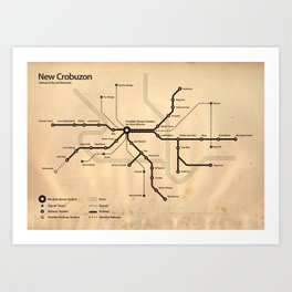 Perdido Street Station Map Art Print