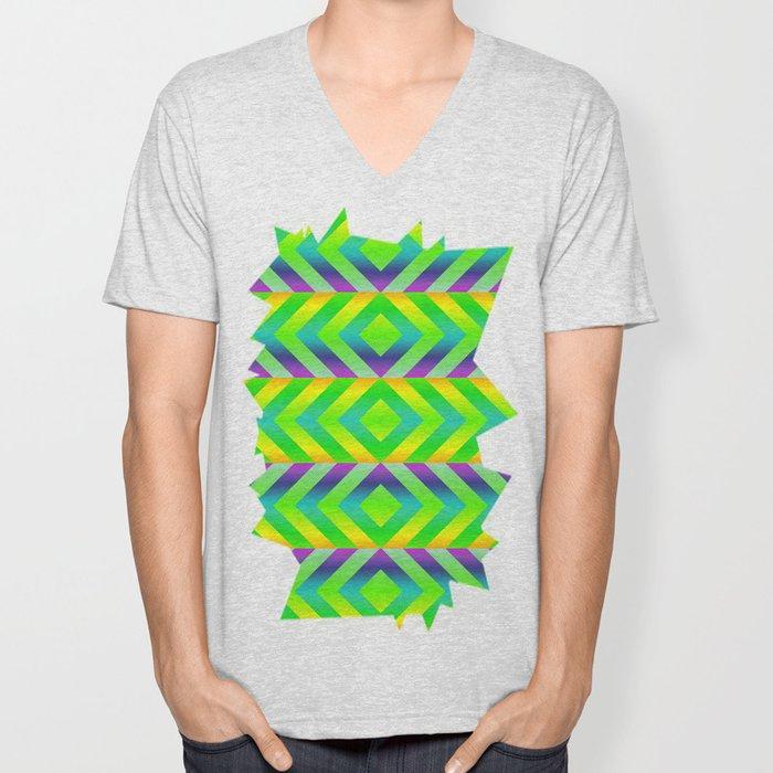 Green Unisex V-Neck