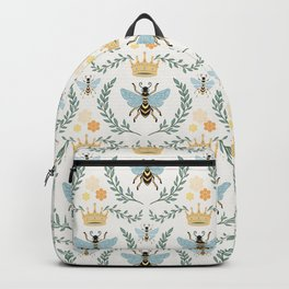 Queen Bee with Gold Crown and Laurel Frame Backpack