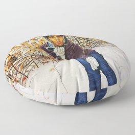 winter kiss Floor Pillow