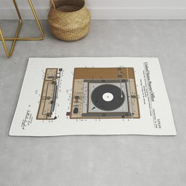 Record Player Patent Rug