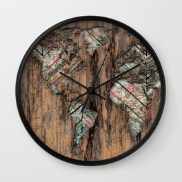 The Divided Continent Wall Clock