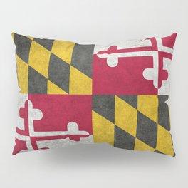 State flag of Flag of Maryland, Vintage retro style Pillow Sham