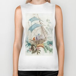 Chinoiserie Embroidery Biker Tank