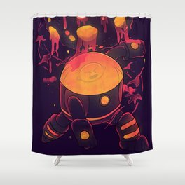 Super Heroic Pose Shower Curtain