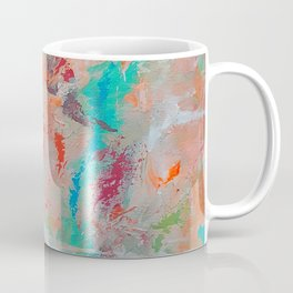The Stone The Builders Rejected Aqua Orange Pink Coffee Mug