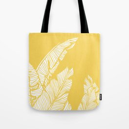 Banana Leaves on Yellow #society6 #decor #buyart Tote Bag