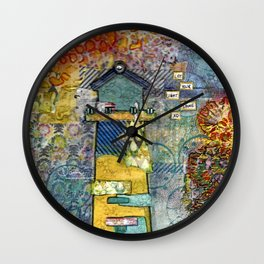 let your light shine Wall Clock