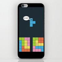 tetris iPhone & iPod Skins featuring Tetris by sEndro
