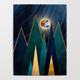 Metallic Peaks Poster